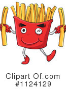 Royalty-Free (RF) Fries Clipart Illustration #1124129