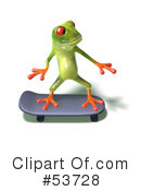 Royalty-Free (RF) Frog Character Clipart Illustration #53728