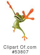 Royalty-Free (RF) Frog Character Clipart Illustration #53807