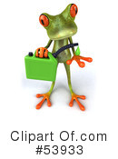 Royalty-Free (RF) frog character Clipart Illustration #53933