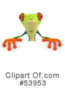 Royalty-Free (RF) Frog Character Clipart Illustration #53953