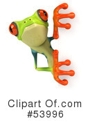 Royalty-Free (RF) Frog Character Clipart Illustration #53996
