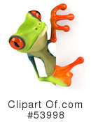 Royalty-Free (RF) Frog Character Clipart Illustration #53998