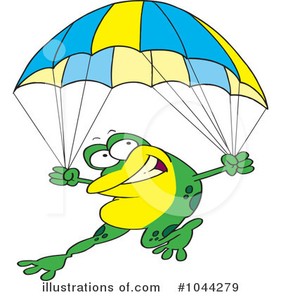 Parachute Clipart #1044279 by toonaday