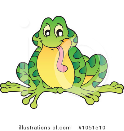 Royalty-Free (RF) Frog Clipart Illustration by visekart - Stock Sample #1051510