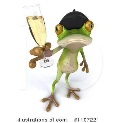 Royalty-Free (RF) Frog Clipart Illustration by Julos - Stock Sample #1107221