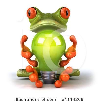 Royalty-Free (RF) Frog Clipart Illustration by Julos - Stock Sample #1114269