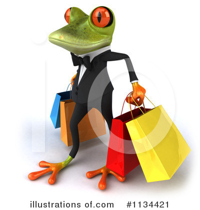 Royalty-Free (RF) Frog Clipart Illustration by Julos - Stock Sample #1134421