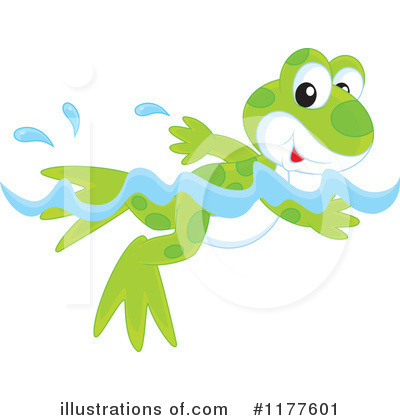 Swimming Clipart #1177601 by Alex Bannykh