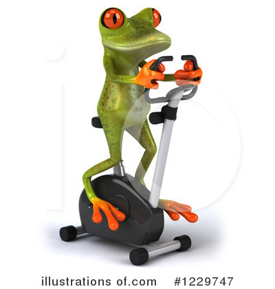 Royalty-Free (RF) Frog Clipart Illustration by Julos - Stock Sample #1229747
