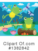 Royalty-Free (RF) Frog Clipart Illustration #1382842