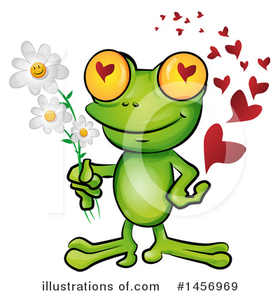Frog Clipart #1456969 by Domenico Condello