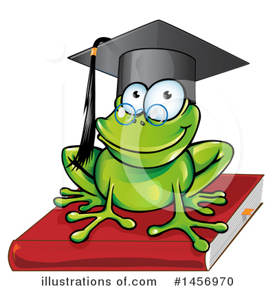 Frog Clipart #1456970 by Domenico Condello