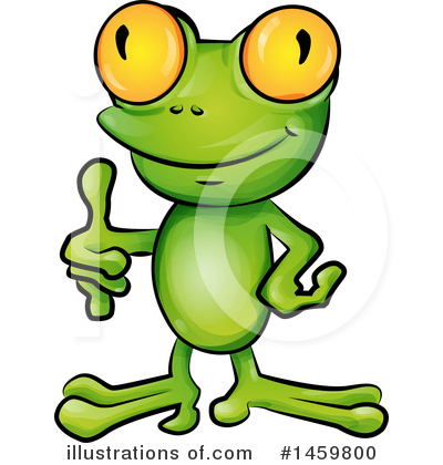 Frog Clipart #1459800 by Domenico Condello