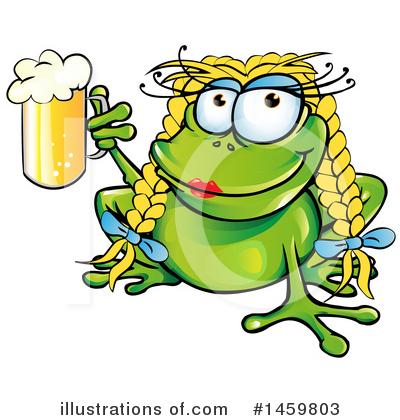 Frog Clipart #1459803 by Domenico Condello