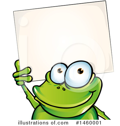Frog Clipart #1460001 by Domenico Condello