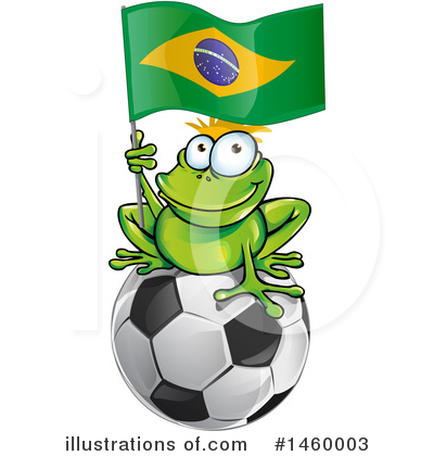 Frog Clipart #1460003 by Domenico Condello