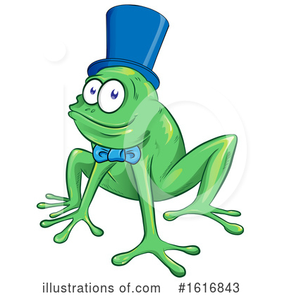 Frog Clipart #1616843 by Domenico Condello