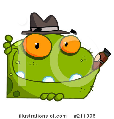 Royalty-Free (RF) Frog Clipart Illustration by Hit Toon - Stock Sample #211096