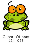 Royalty-Free (RF) Frog Clipart Illustration #211098