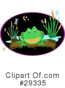 Royalty-Free (RF) Frog Clipart Illustration #29335