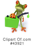 Royalty-Free (RF) frog Clipart Illustration #43921