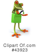 Royalty-Free (RF) frog Clipart Illustration #43923