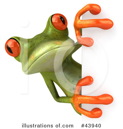 Royalty-Free (RF) Frog Clipart Illustration by Julos - Stock Sample #43940