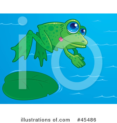 Royalty-Free (RF) Frog Clipart Illustration by John Schwegel - Stock Sample #45486