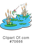 Royalty-Free (RF) Frogs Clipart Illustration #70666