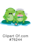 Royalty-Free (RF) Frogs Clipart Illustration #76244