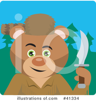 Bear Clipart #41334 by Dennis Holmes Designs
