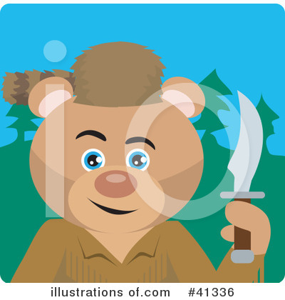 Bear Clipart #41336 by Dennis Holmes Designs