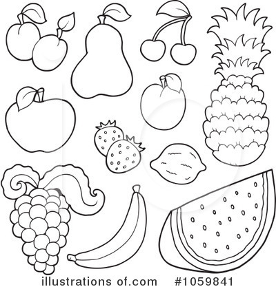 Royalty-Free (RF) Fruit Clipart Illustration by visekart - Stock Sample #1059841