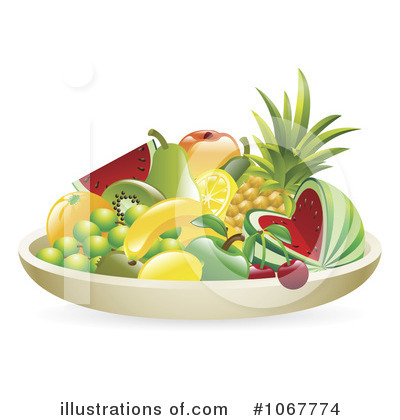 Pineapple Clipart #1067774 by AtStockIllustration