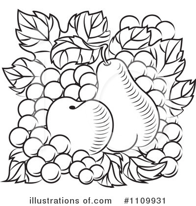 Pear Clipart #1109931 by Vector Tradition SM