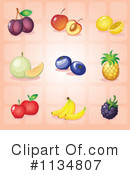 Royalty-Free (RF) Fruit Clipart Illustration #1134807