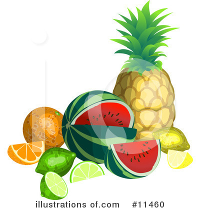 Limes Clipart #11460 by AtStockIllustration