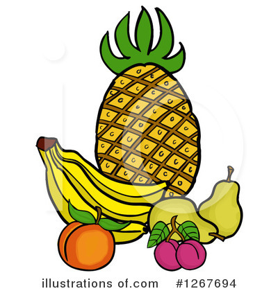 Pineapple Clipart #1267694 by LaffToon
