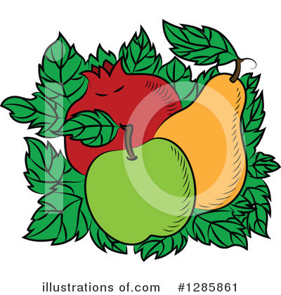 Pear Clipart #1285861 by Vector Tradition SM