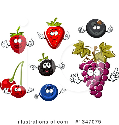 Cherry Clipart #1347075 by Vector Tradition SM