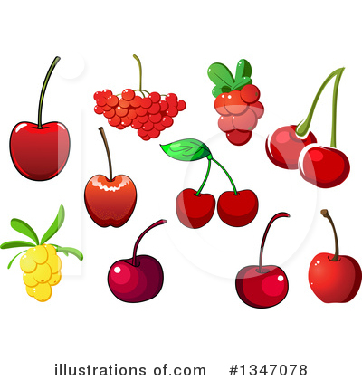 Cherry Clipart #1347078 by Vector Tradition SM