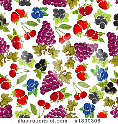 Cherry Clipart #1390308 by Vector Tradition SM