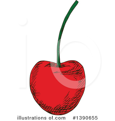 Cherry Clipart #1390655 by Vector Tradition SM