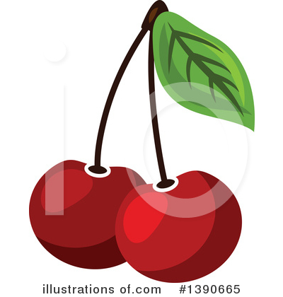 Cherry Clipart #1390665 by Vector Tradition SM