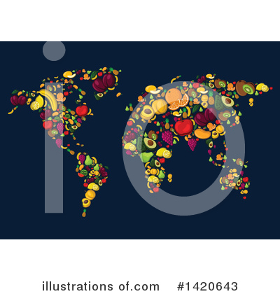 Map Clipart #1420643 by Vector Tradition SM