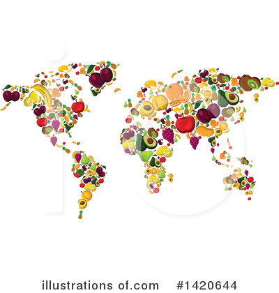 Map Clipart #1420644 by Vector Tradition SM