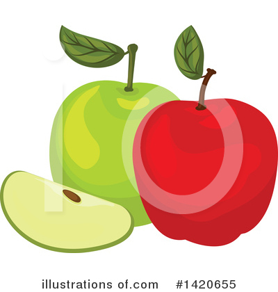 Apple Clipart #1420655 by Vector Tradition SM