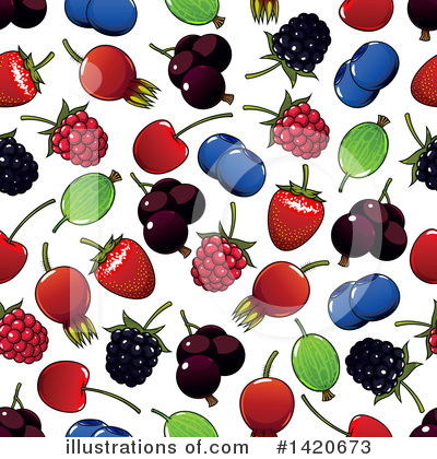Cherry Clipart #1420673 by Vector Tradition SM
