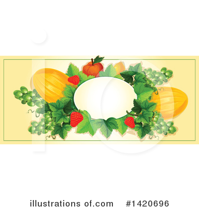 Peach Clipart #1420696 by Vector Tradition SM